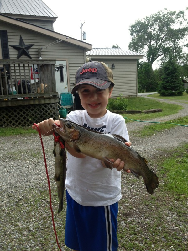 Caden Garrison with large fish