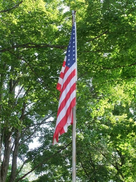 Flag at Raymond Wright Park