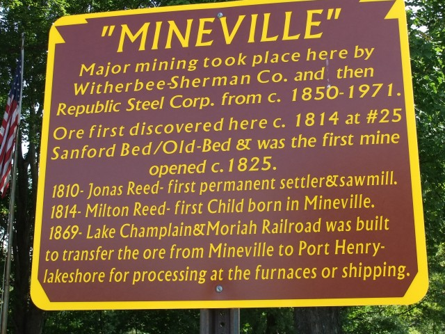 Mineville sign