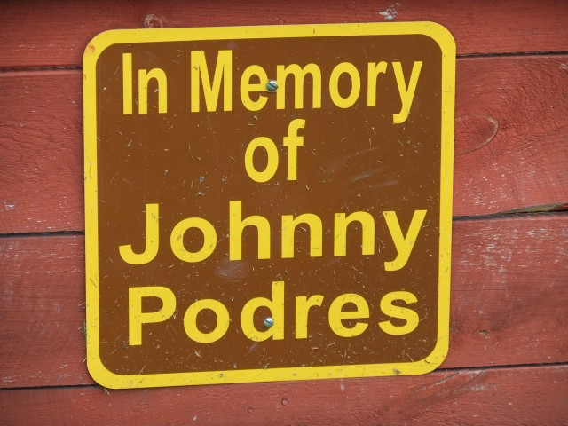In Memory of Johnny Podres sign