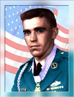 color photo of Raymond Buzz Wright, in uniform