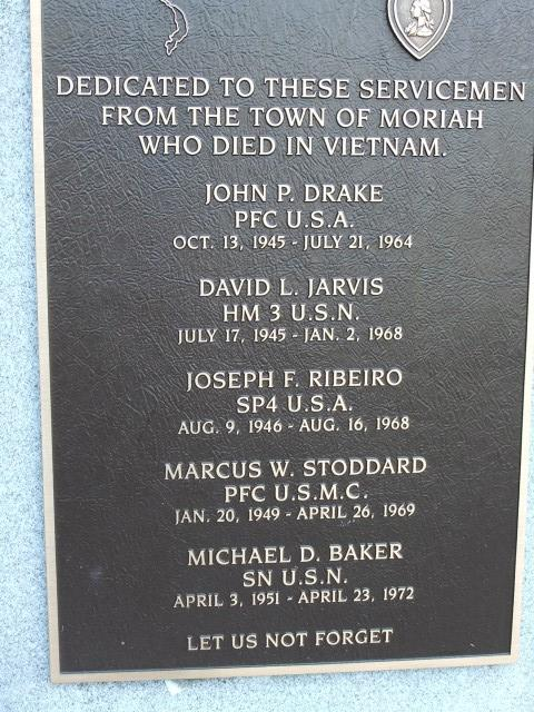 Dedicated to the 5 servicemen from Moriah that lost their lives in Vietnam