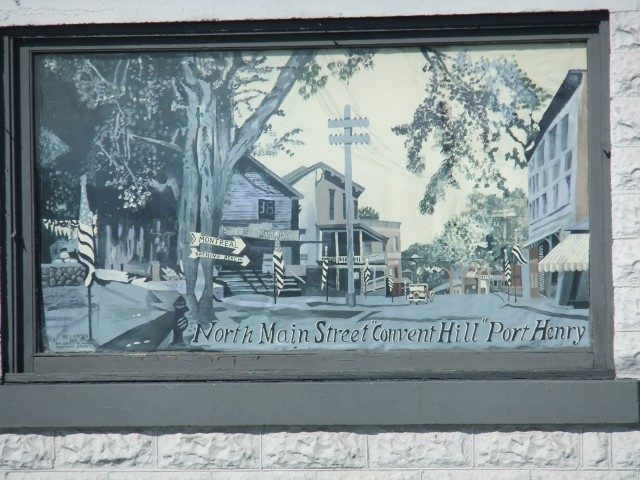 Mural based on historic postcard
