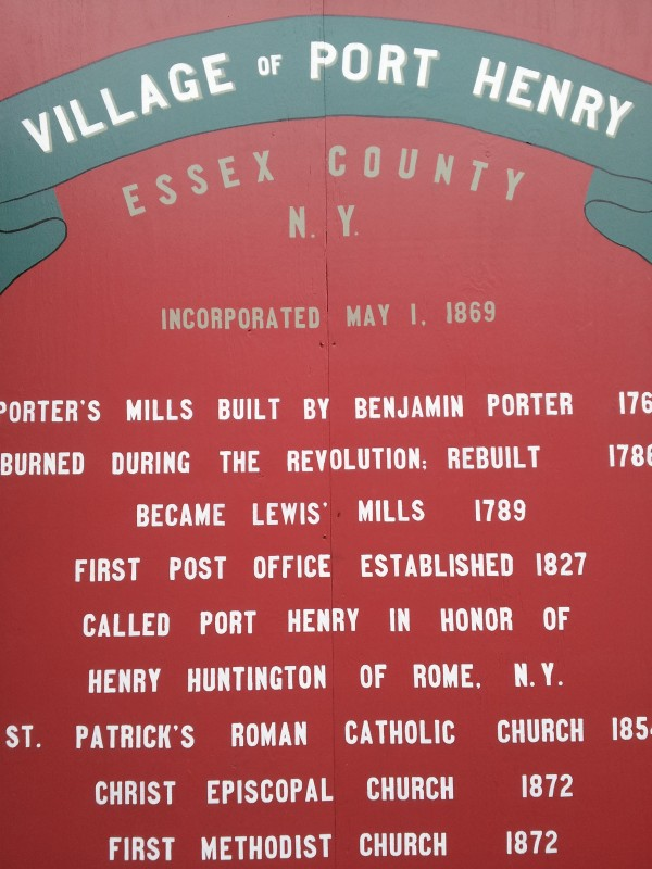 Village History sign at Village Park