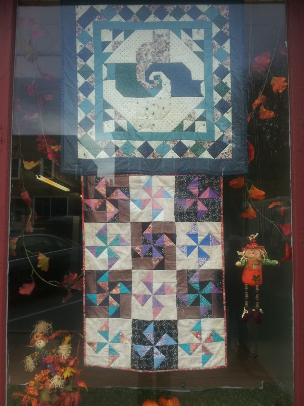 Quilts in Window