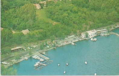 Aerial View of Port Henry marina area