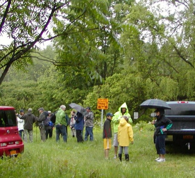 Trail dedication on a rainy June Saturday, 2012