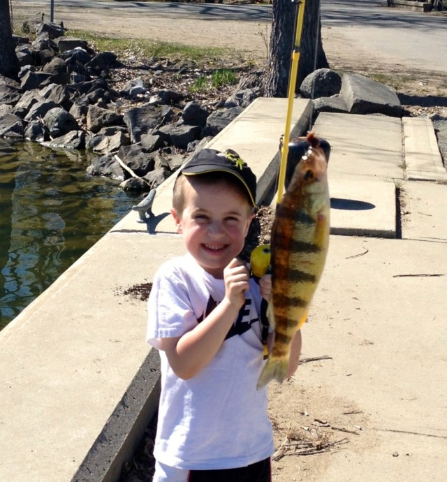 Young Boy with Large Fish
