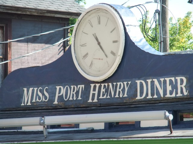 Sign over Port Henry Diner